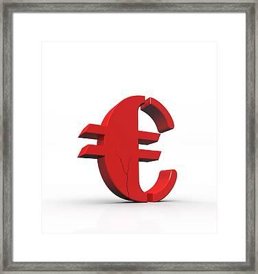 Currency Crash, Conceptual Image Framed Print by David Parker