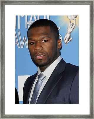 Curtis Jackson, Aka 50 Cent Framed Print by Everett