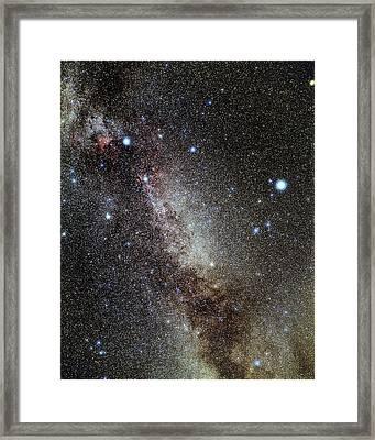 Cygnus And Lyra Constellations Framed Print by Eckhard Slawik