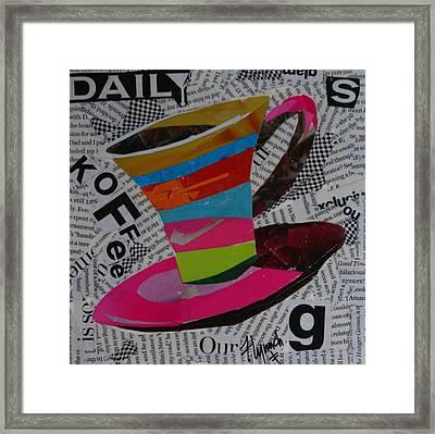 Daily Koffee  Framed Print by Lynn Chatman