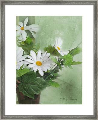 Framed Print featuring the photograph Daisies by Mary Timman