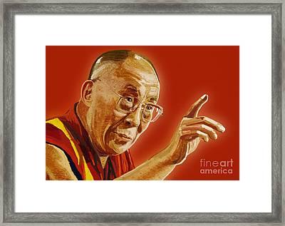Dalai Lama Framed Print by Setsiri Silapasuwanchai