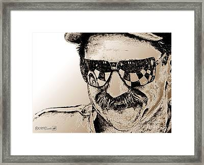 Dale Earnhardt Sr In 1995 Framed Print by J McCombie