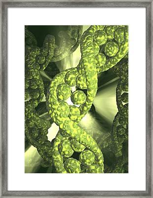 Damaged Dna, Conceptual Artwork Framed Print by David Mack