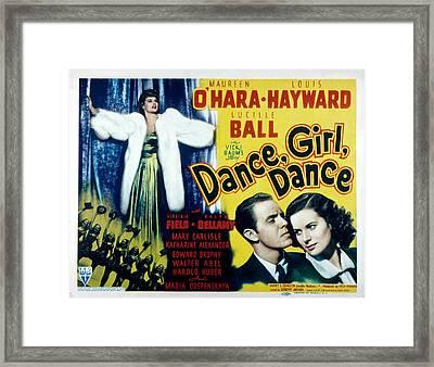 Dance, Girl, Dance, Lucille Ball, Louis Framed Print by Everett