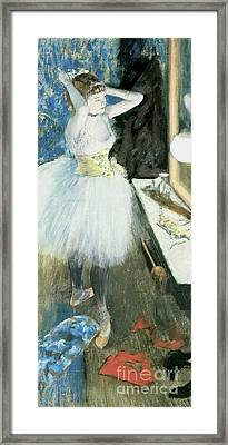 Dancer In Her Dressing Room Framed Print