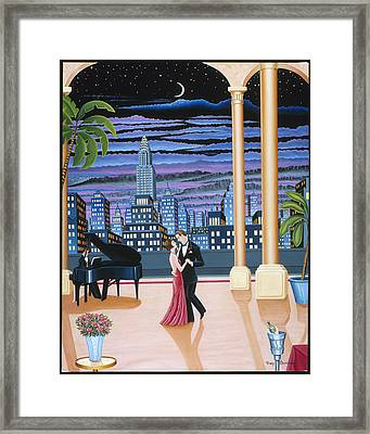 Dancing In The Dark Framed Print by Tracy Dennison