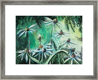 Dancing With Daisies Framed Print by Mindy Newman