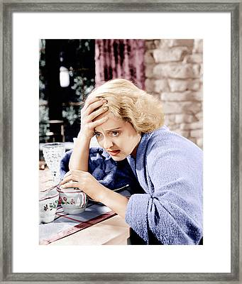 Dangerous, Bette Davis, 1935 Framed Print