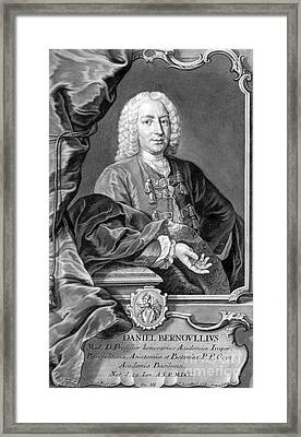 Daniel Bernoulli, Swiss Mathematician Framed Print by Science Source