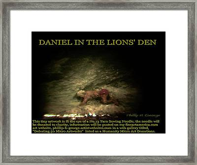 Daniel In The Lion's Den Info Photo No.1  Framed Print