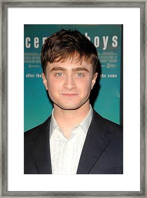 Daniel Radcliffe At Arrivals Framed Print