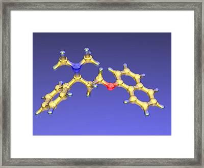 Dapoxetine Premature Ejaculation Drug Framed Print by Dr Mark J. Winter