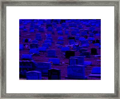 Dark Cemetery Framed Print by Jose Lopez