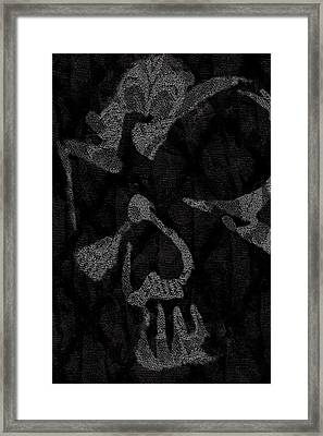 Dark Skull Framed Print by Roseanne Jones