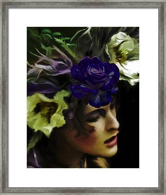 Dark Wood Nymph Framed Print by Jill Balsam