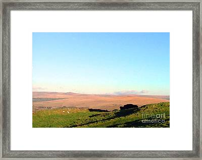 Dartmoor Framed Print by Ron Telford