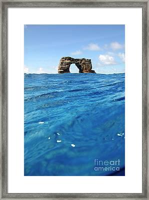Darwin's Arch By Sea Level Framed Print by Sami Sarkis