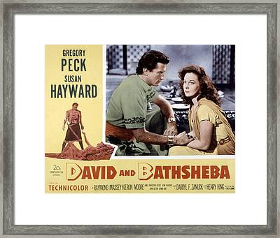 David And Bathsheba, Gregory Peck Framed Print