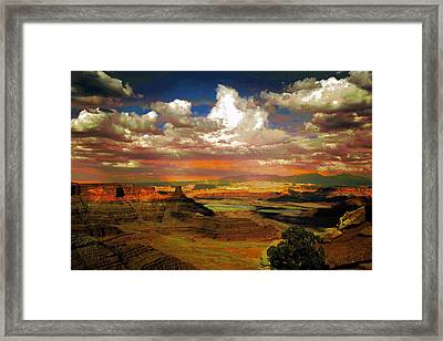 Dead Horse Point Canyon Framed Print