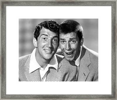 Dean Martin And Jerry Lewis, C. Early Framed Print by Everett