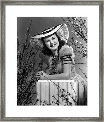 Deanna Durbin, 1939 Framed Print by Everett