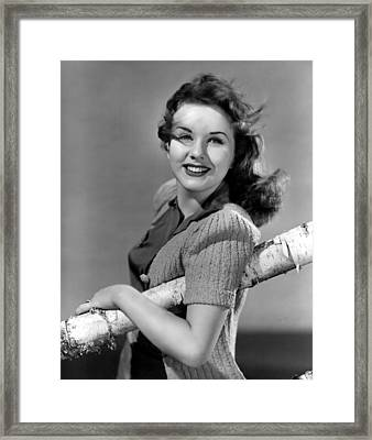 Deanna Durbin, 1941 Framed Print by Everett