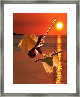 Death Of A Flute Framed Print by Eric Kempson