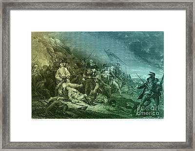Death Of General Warren, 1775 Framed Print by Photo Researchers