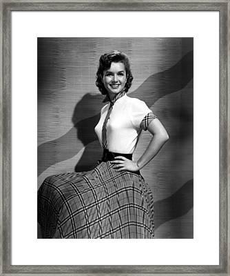 Debbie Reynolds In The 1950s Framed Print by Everett