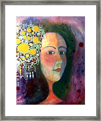 Framed Print featuring the painting Debutante by Monica Furlow