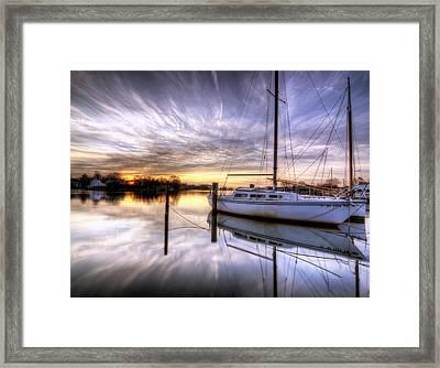 December Sunrise Framed Print by Vicki Jauron