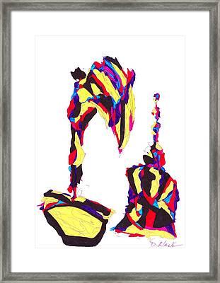Definism Design 18 Framed Print by Darrell Black