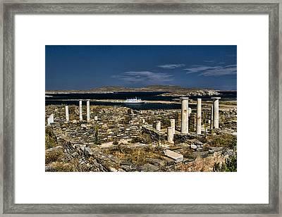 Delos Island Framed Print by David Smith