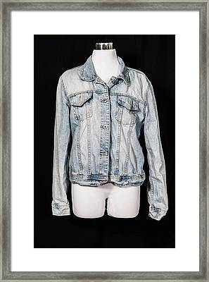 Denim Jacket Framed Print by Joana Kruse