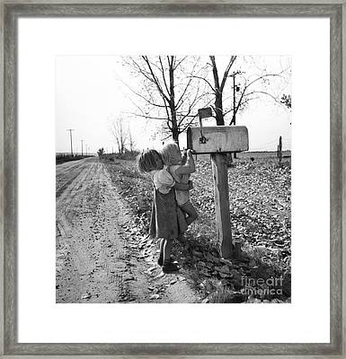 Depression Era Rural America Framed Print by Photo Researchers