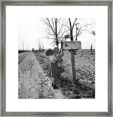 Depression Era Rural America Framed Print by Photo Researchers