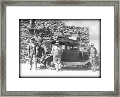 Framed Print featuring the photograph Depression Travlers by Bonfire Photography