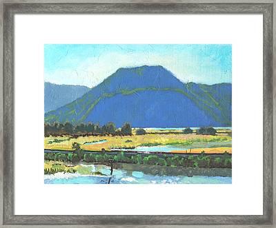 Derr Mountain Framed Print by Robert Bissett