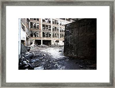 Detroit Abandoned Buildings Framed Print by Joe Gee