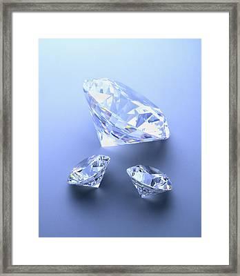 Diamonds Framed Print by Lawrence Lawry