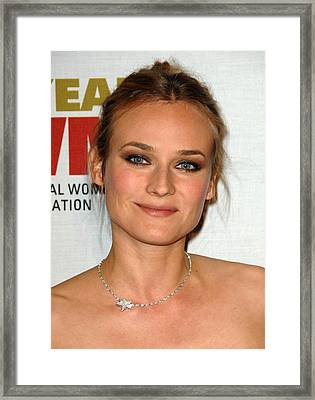Diane Kruger At Arrivals For The Framed Print by Everett