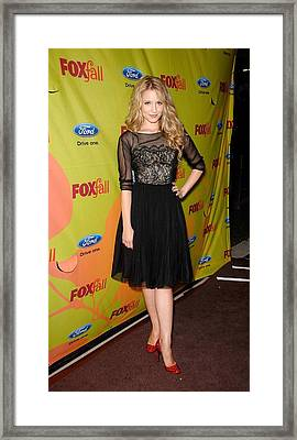 Dianna Agron At Arrivals For Fox Fall Framed Print by Everett