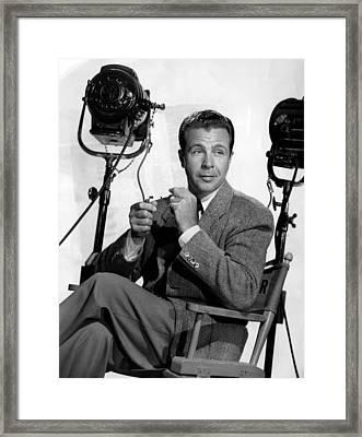 Dick Powell, Ca. 1940s Framed Print by Everett