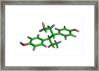 Diethylstilbestrol Drug Molecule Framed Print by Dr Tim Evans