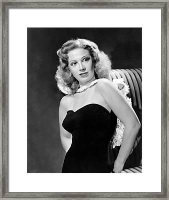Dinah Shore, Ca. 1943 Framed Print
