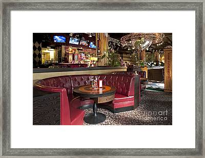 Dining Booth In An American Style Diner Framed Print by Jaak Nilson