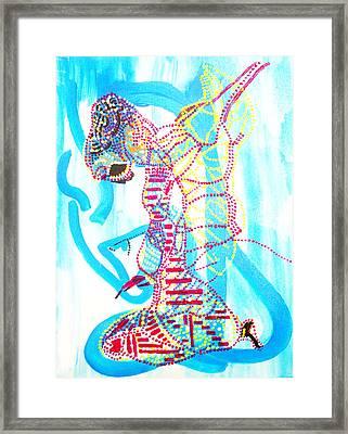 Dinka Angel Bride - South Sudan Framed Print by Gloria Ssali