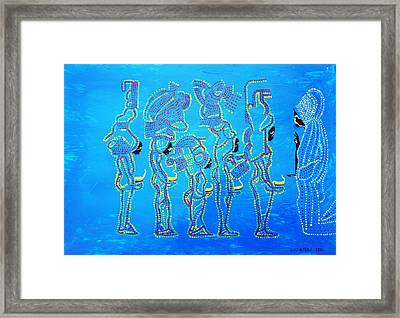 Dinka Wise Virgins  Framed Print by Gloria Ssali