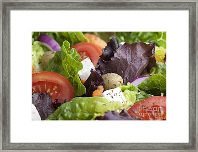 Dinner Salad Framed Print by Charlotte Lake
